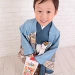 大阪の七五三写真撮影スタジオ・ハニーアンドクランチの男の子の和装のフォトギャラリーC131