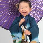 大阪の七五三写真撮影スタジオ・ハニーアンドクランチの男の子の和装のフォトギャラリーC133