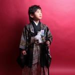 大阪の七五三写真撮影スタジオ・ハニーアンドクランチの男の子の和装のフォトギャラリーC147