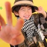 大阪の七五三写真撮影スタジオ・ハニーアンドクランチの男の子の和装のフォトギャラリーC149
