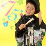 大阪の七五三写真撮影スタジオ・ハニーアンドクランチの男の子の和装のフォトギャラリーC153
