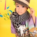 大阪の七五三写真撮影スタジオ・ハニーアンドクランチの男の子の和装のフォトギャラリーC155