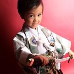 大阪の七五三写真撮影スタジオ・ハニーアンドクランチの男の子の和装のフォトギャラリーC157