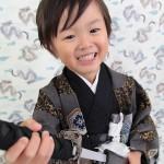 大阪の七五三写真撮影スタジオ・ハニーアンドクランチの男の子の和装のフォトギャラリーC169