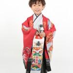 大阪の七五三写真撮影スタジオ・ハニーアンドクランチの男の子の和装のフォトギャラリーC171
