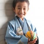 大阪の七五三写真撮影スタジオ・ハニーアンドクランチの男の子の和装のフォトギャラリーC175