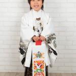 大阪の七五三写真撮影スタジオ・ハニーアンドクランチの男の子の和装のフォトギャラリーC179
