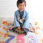 大阪の七五三写真撮影スタジオ・ハニーアンドクランチの男の子の和装のフォトギャラリーC190