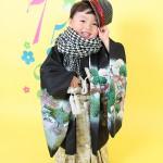 大阪の七五三写真撮影スタジオ・ハニーアンドクランチの男の子の和装のフォトギャラリーC199