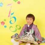 大阪の七五三写真撮影スタジオ・ハニーアンドクランチの男の子の和装のフォトギャラリーC202