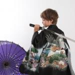 大阪の七五三写真撮影スタジオ・ハニーアンドクランチの男の子の和装のフォトギャラリーC205