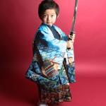 大阪の七五三写真撮影スタジオ・ハニーアンドクランチの男の子の和装のフォトギャラリーC210
