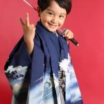 大阪の七五三写真撮影スタジオ・ハニーアンドクランチの男の子の和装のフォトギャラリーC211