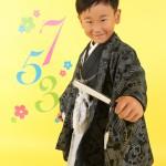 大阪の七五三写真撮影スタジオ・ハニーアンドクランチの男の子の和装のフォトギャラリーC214