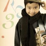 大阪の七五三写真撮影スタジオ・ハニーアンドクランチの男の子の和装のフォトギャラリーC223