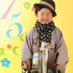 大阪の七五三写真撮影スタジオ・ハニーアンドクランチの男の子の和装のフォトギャラリーC225