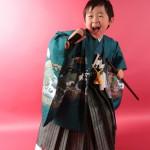 大阪の七五三写真撮影スタジオ・ハニーアンドクランチの男の子の和装のフォトギャラリーC229