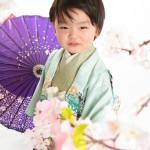 大阪の七五三写真撮影スタジオ・ハニーアンドクランチの男の子の和装のフォトギャラリーC239