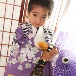 大阪の七五三写真撮影スタジオ・ハニーアンドクランチの男の子の和装のフォトギャラリーC240