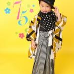 大阪の七五三写真撮影スタジオ・ハニーアンドクランチの男の子の和装のフォトギャラリーC256