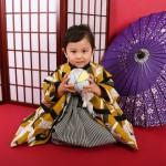 大阪の七五三写真撮影スタジオ・ハニーアンドクランチの男の子の和装のフォトギャラリーC257