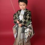 大阪の七五三写真撮影スタジオ・ハニーアンドクランチの男の子の和装のフォトギャラリーC279