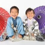 大阪の七五三写真撮影スタジオ・ハニーアンドクランチの男の子の和装のフォトギャラリーC285