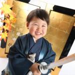 大阪の七五三写真撮影スタジオ・ハニーアンドクランチの男の子の和装のフォトギャラリーC294
