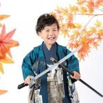 大阪の七五三写真撮影スタジオ・ハニーアンドクランチの男の子の和装のフォトギャラリーC297