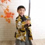 大阪の七五三写真撮影スタジオ・ハニーアンドクランチの男の子の和装のフォトギャラリーC299