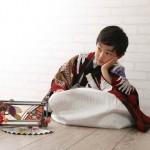 大阪の七五三写真撮影スタジオ・ハニーアンドクランチの男の子の和装のフォトギャラリーC300