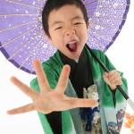 大阪の七五三写真撮影スタジオ・ハニーアンドクランチの男の子の和装のフォトギャラリーC302