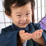 大阪の七五三写真撮影スタジオ・ハニーアンドクランチの男の子の和装のフォトギャラリーC303