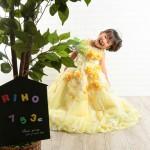 大阪の七五三写真撮影スタジオ・ハニーアンドクランチの3歳女の子洋装(ドレス・きぐるみ)のフォトギャラリーD005