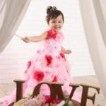 大阪の七五三写真撮影スタジオ・ハニーアンドクランチの3歳女の子洋装(ドレス・きぐるみ)のフォトギャラリーD017