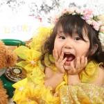 大阪の七五三写真撮影スタジオ・ハニーアンドクランチの3歳女の子洋装(ドレス・きぐるみ)のフォトギャラリーD038