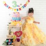 大阪の七五三写真撮影スタジオ・ハニーアンドクランチの3歳女の子洋装(ドレス・きぐるみ)のフォトギャラリーD099