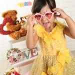 大阪の七五三写真撮影スタジオ・ハニーアンドクランチの3歳女の子洋装(ドレス・きぐるみ)のフォトギャラリーD132