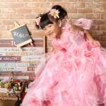 大阪の七五三写真撮影スタジオ・ハニーアンドクランチの3歳女の子洋装(ドレス・きぐるみ)のフォトギャラリーD133