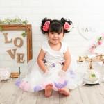 大阪の七五三写真撮影スタジオ・ハニーアンドクランチの3歳女の子洋装(ドレス・きぐるみ)のフォトギャラリーD152