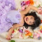 大阪の七五三写真撮影スタジオ・ハニーアンドクランチの3歳女の子洋装(ドレス・きぐるみ)のフォトギャラリーD163