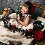 大阪の七五三写真撮影スタジオ・ハニーアンドクランチの3歳女の子洋装(ドレス・きぐるみ)のフォトギャラリーD191