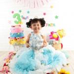 大阪の七五三写真撮影スタジオ・ハニーアンドクランチの3歳女の子洋装(ドレス・きぐるみ)のフォトギャラリーD248
