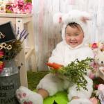 大阪の七五三写真撮影スタジオ・ハニーアンドクランチの3歳女の子洋装(ドレス・きぐるみ)のフォトギャラリーD257