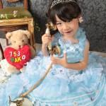 大阪の七五三写真撮影スタジオ・ハニーアンドクランチの3歳女の子洋装(ドレス・きぐるみ)のフォトギャラリーD260
