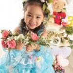 大阪の七五三写真撮影スタジオ・ハニーアンドクランチの3歳女の子洋装(ドレス・きぐるみ)のフォトギャラリーD261