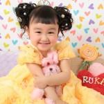 大阪の七五三写真撮影スタジオ・ハニーアンドクランチの3歳女の子洋装(ドレス・きぐるみ)のフォトギャラリーD264