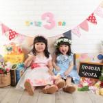 大阪の七五三写真撮影スタジオ・ハニーアンドクランチの3歳女の子洋装(ドレス・きぐるみ)のフォトギャラリーD265