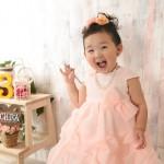 大阪の七五三写真撮影スタジオ・ハニーアンドクランチの3歳女の子洋装(ドレス・きぐるみ)のフォトギャラリーD266