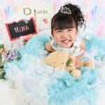 大阪の七五三写真撮影スタジオ・ハニーアンドクランチの3歳女の子洋装(ドレス・きぐるみ)のフォトギャラリーD270